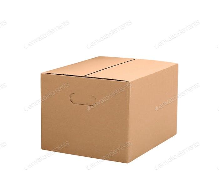 simple brown carton box