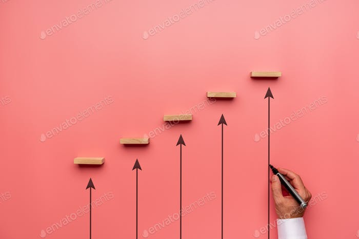 Conceptual image of business growth and development