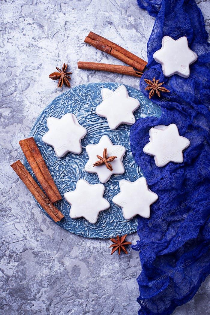 Gingerbread cookies in shape of star