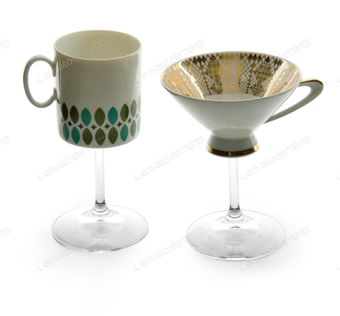 Two cup mug glasses