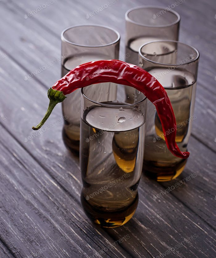 Vodka and chilli pepper
