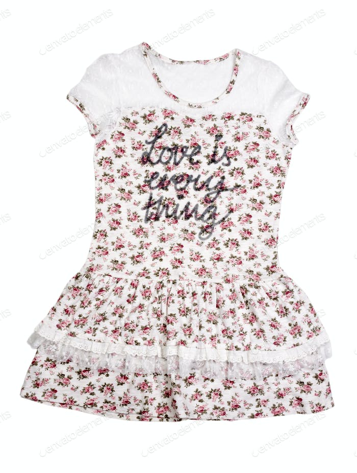 Womens summer dress with floral pattern.