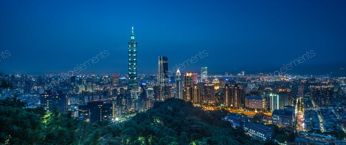 Taipei City in the Blue Hour