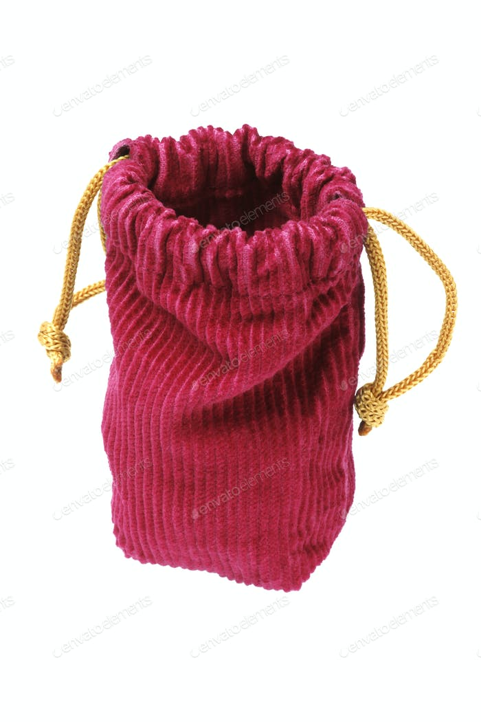 Empty Corduroy Fabric Pouch