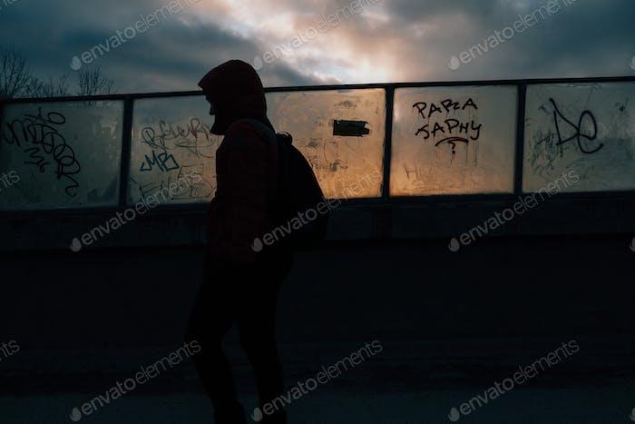 Graffiti and sunset