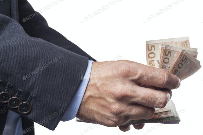 Counting Euro Banknotes