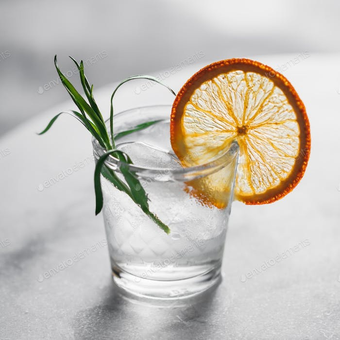 Fresh cocktail with ice