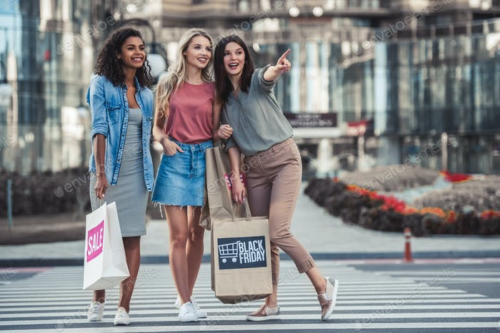 Girls in city