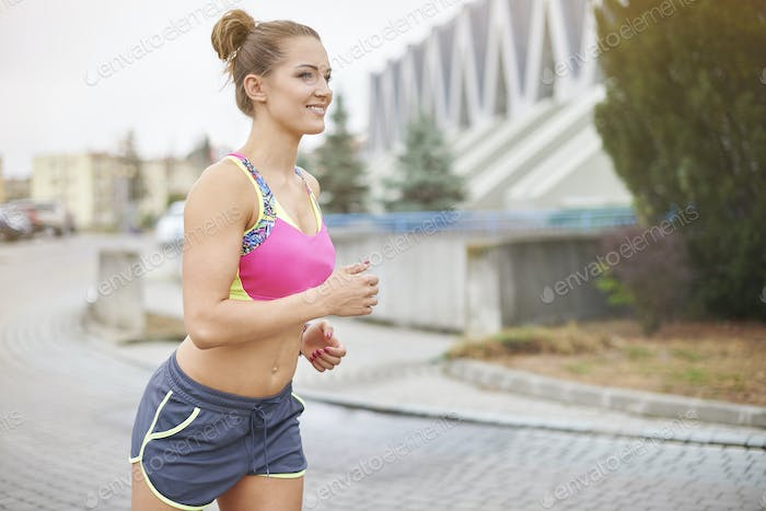 City gives many opportunities to go jogging
