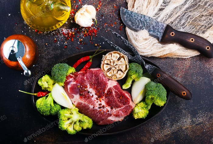 meat with vegetables