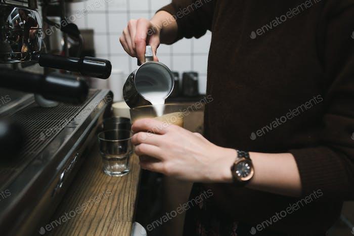 Preparation of vacuum coffee