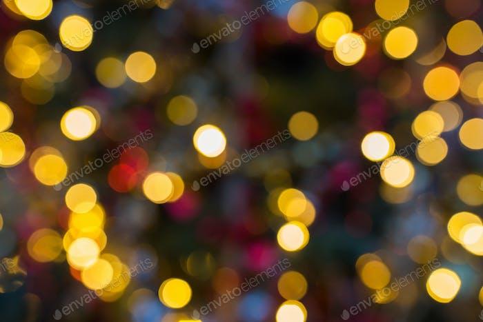 Christmas Lights Background.Blurred Christmas Lights Background Photo By Dolgachov On