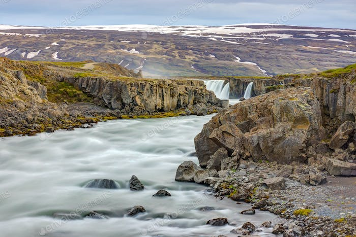 Skjalfandafljot river with Godafoss