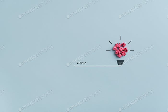 Vision, idea and innovation conceptual image