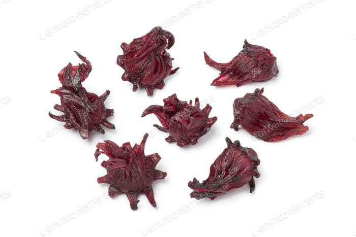 Candied hibiscus flowers