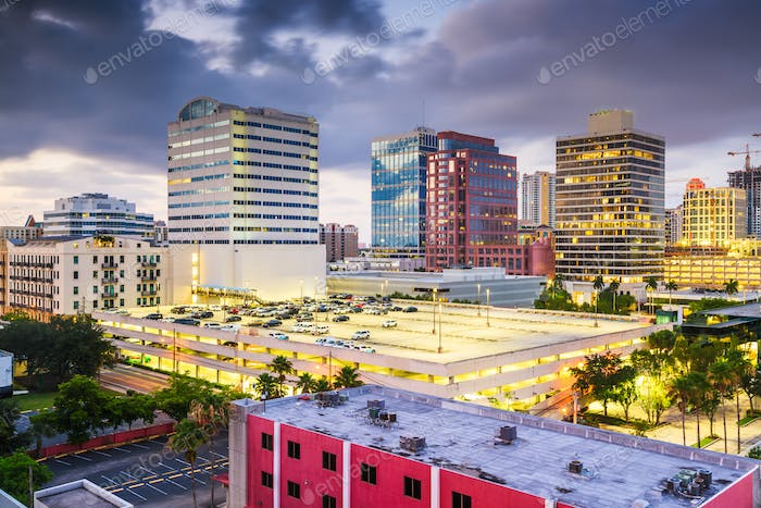 Ft. Lauderdale, Florida, USA downtown cityscape