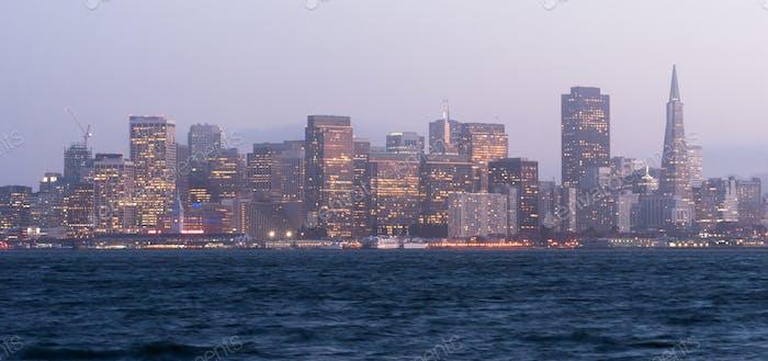 Waterfront Downtown City Skyline Port San Francisco California