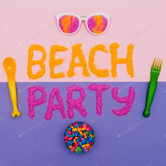 Beach Party Vacation Set Minimal fashion art