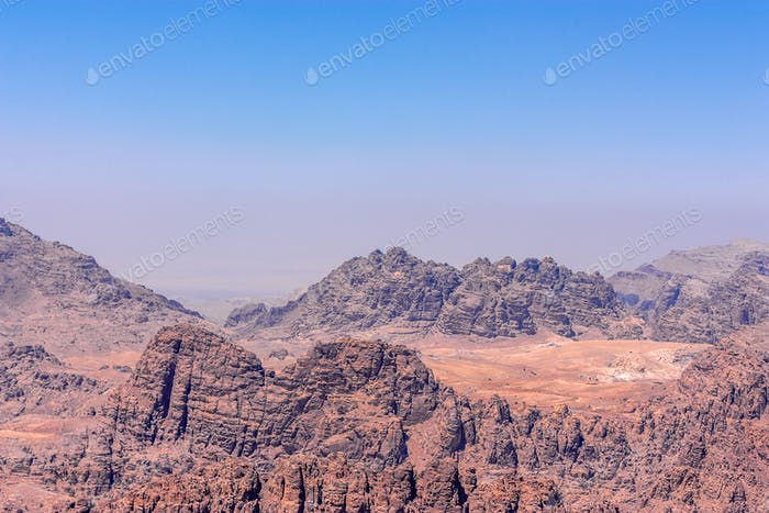 Panorama of the Wadi Musa near Petra, Jordan