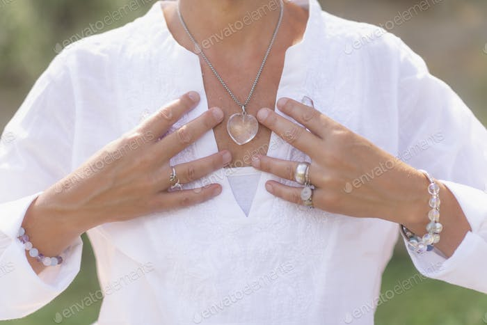 Acceptance Concept, Hand Gesture Sending Positive Feelings