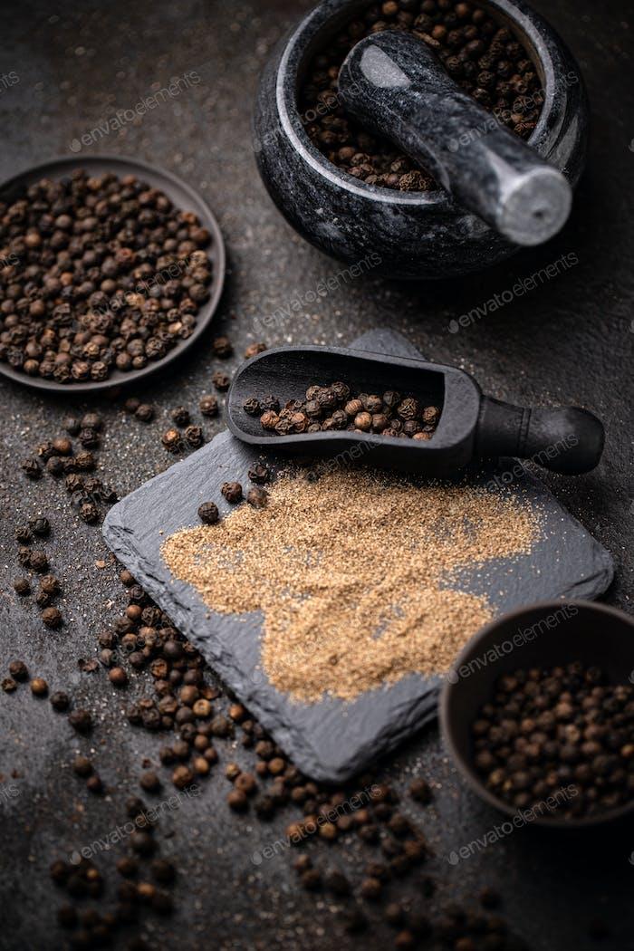 Black pepper corns