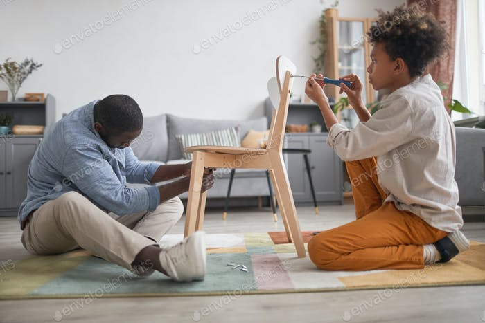Assembling New Wooden Chair