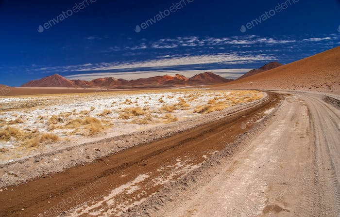 Gravel road in Altiplano