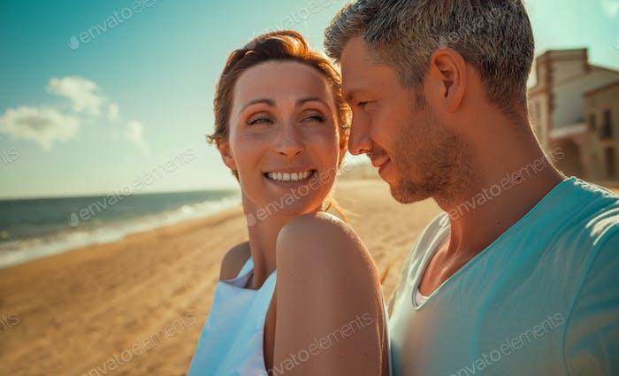 Sommer Liebe Paar