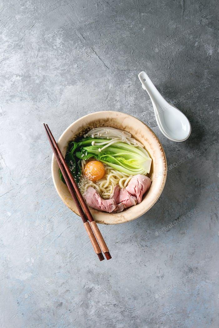 Asian udon noodles