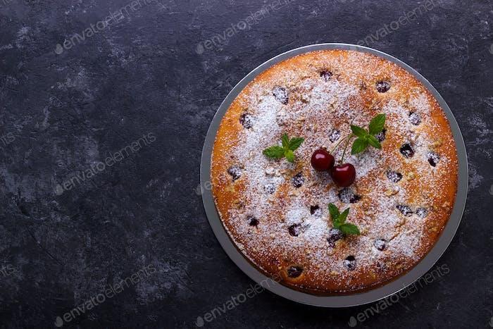 Home made cherry cake