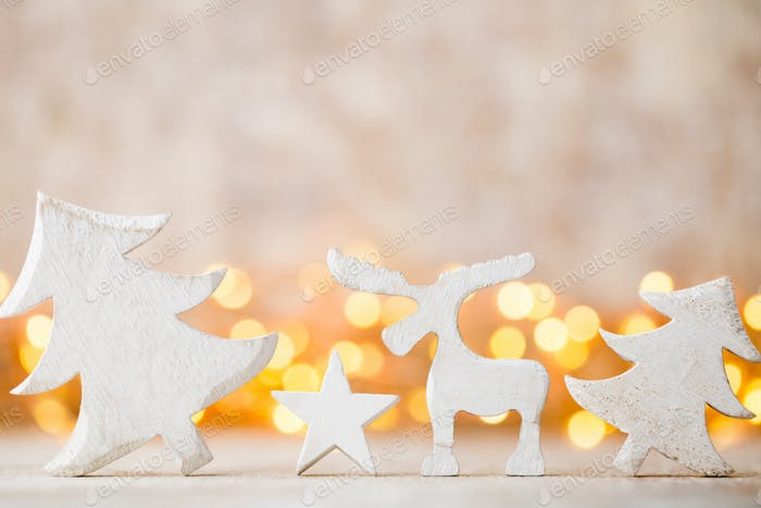 Christmas decoration on the abstract background.