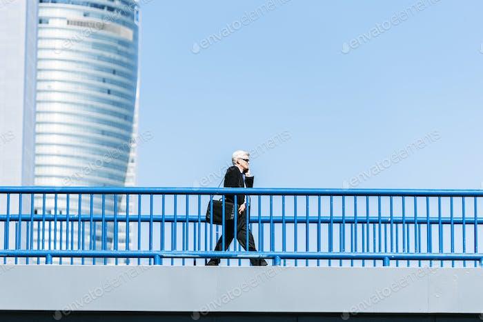 Senior Businessman in the Street.