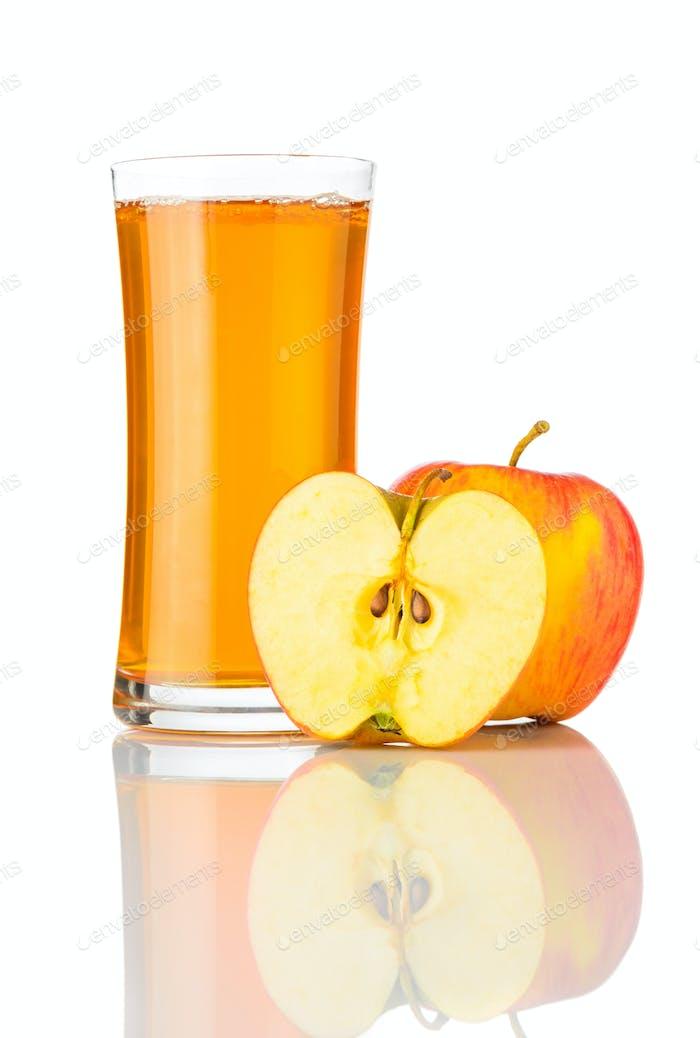 Apple Juice Isolated on White Background
