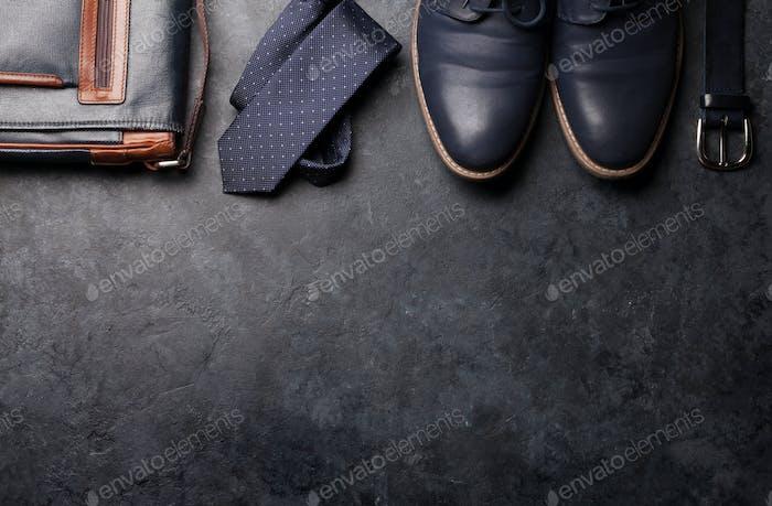 Set of men's classic clothes