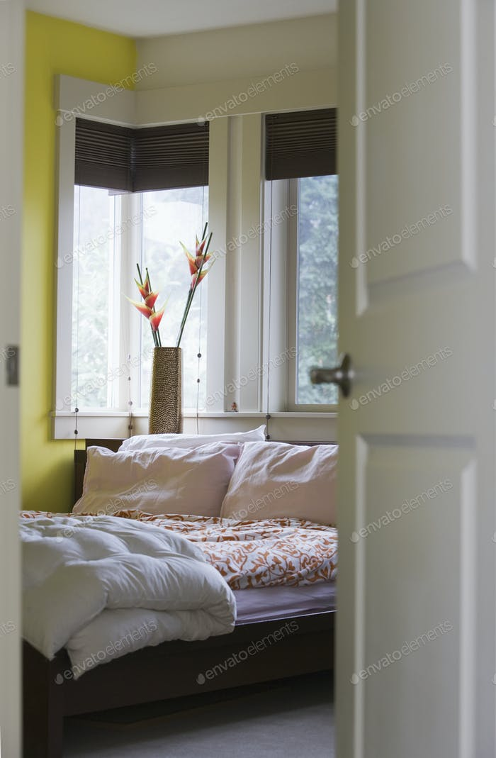 Bedroom Through a Doorway