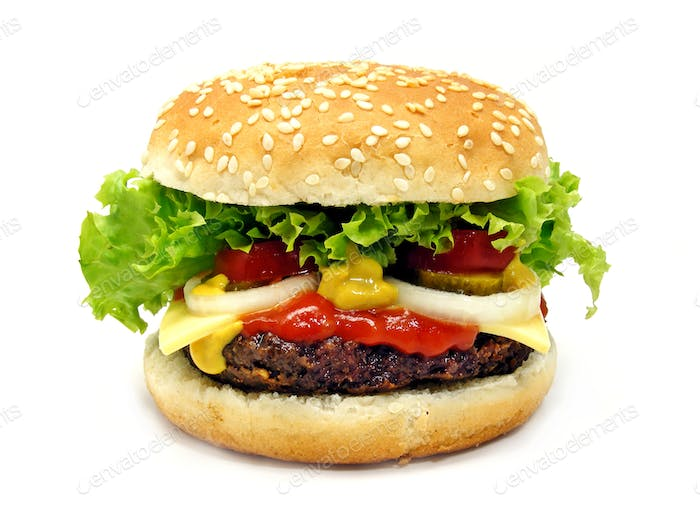 A Large Cheeseburger