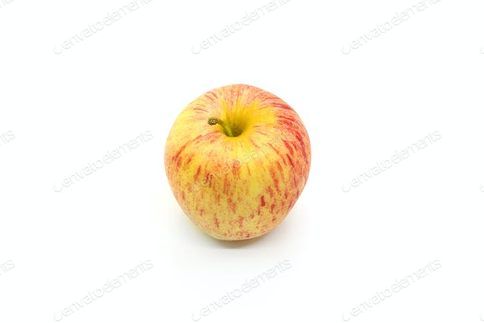 Tasty juicy apple on a white background