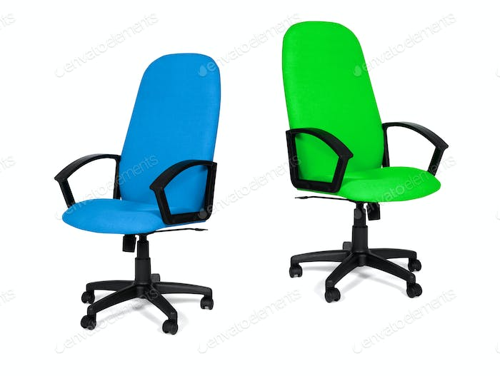 office chairs isolated on a white