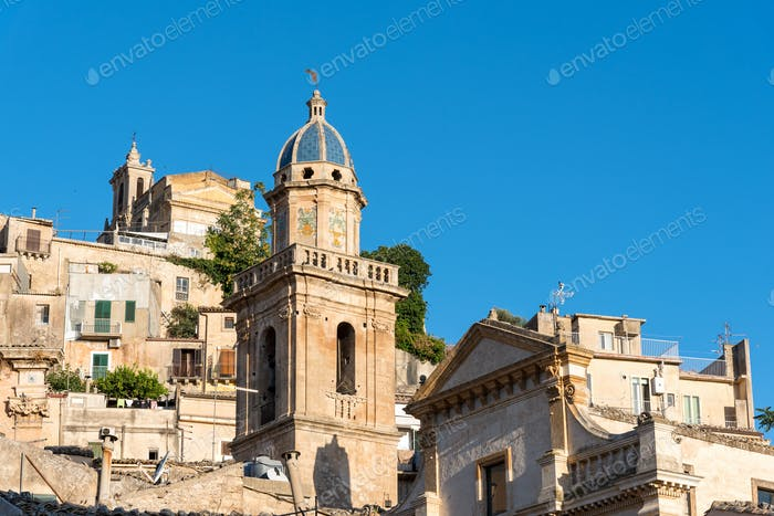Detail of the old Ragusa Ibla