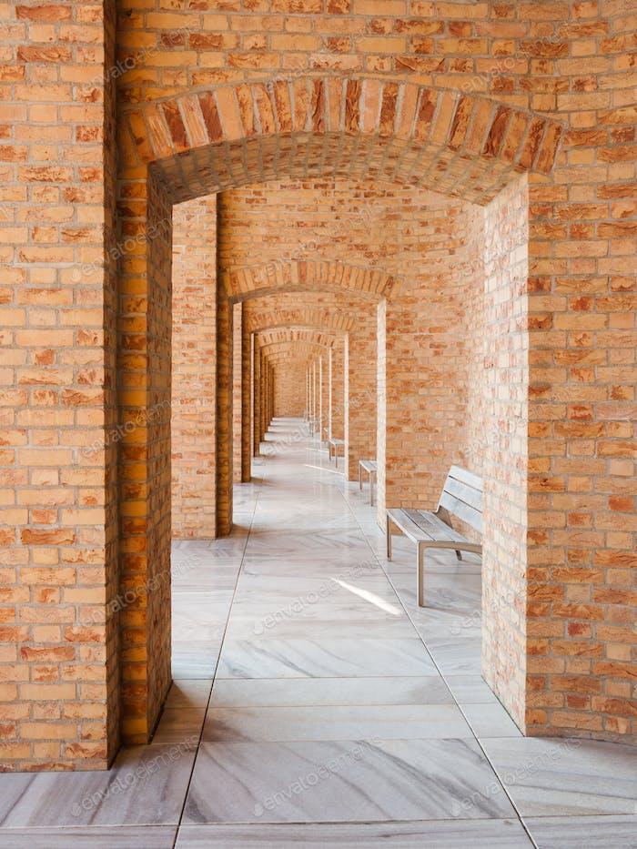 Modern brick archway