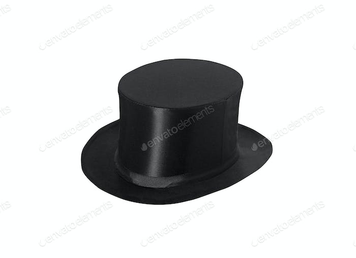 top hat cylinder isolated on white