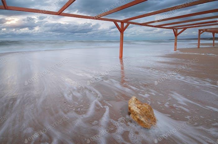Storm on the beach.