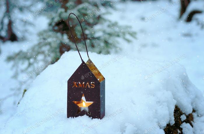 linterna de Navidad