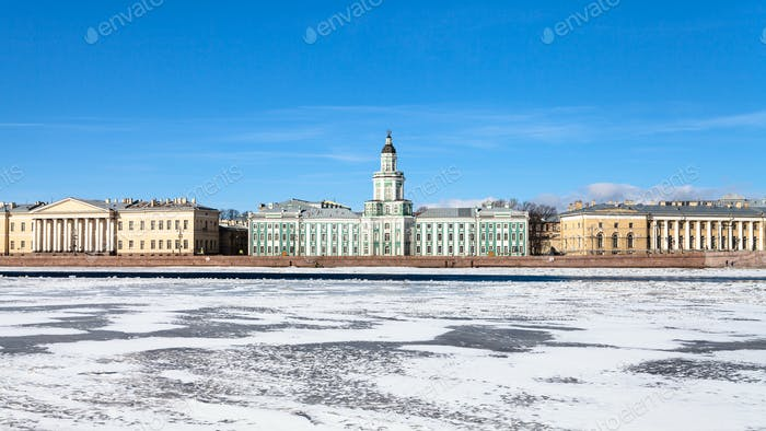 Universitetskaya Embankment with baroque palaces