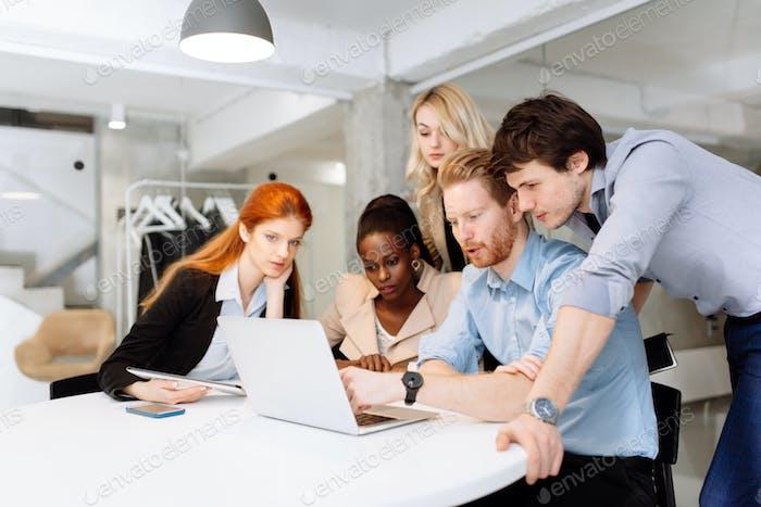 Creative business people brainstorming