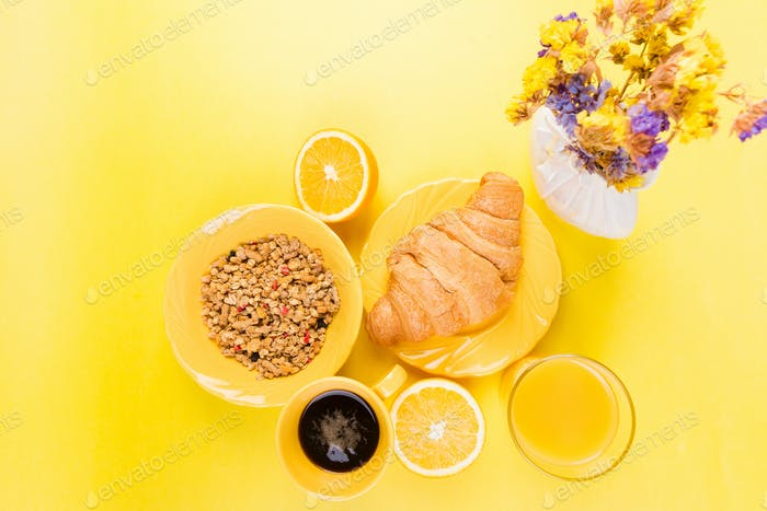 Healthy Breakfast. Various Assortment Set.