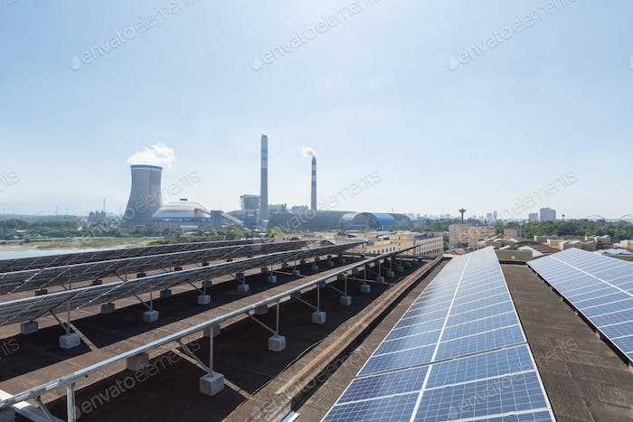roof solar energy and thermal power plant