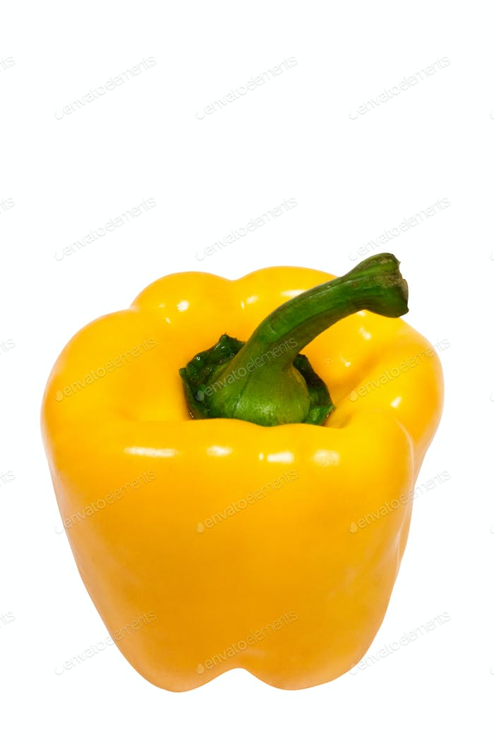 Pepper with Clipping Path Isolated on a White Background