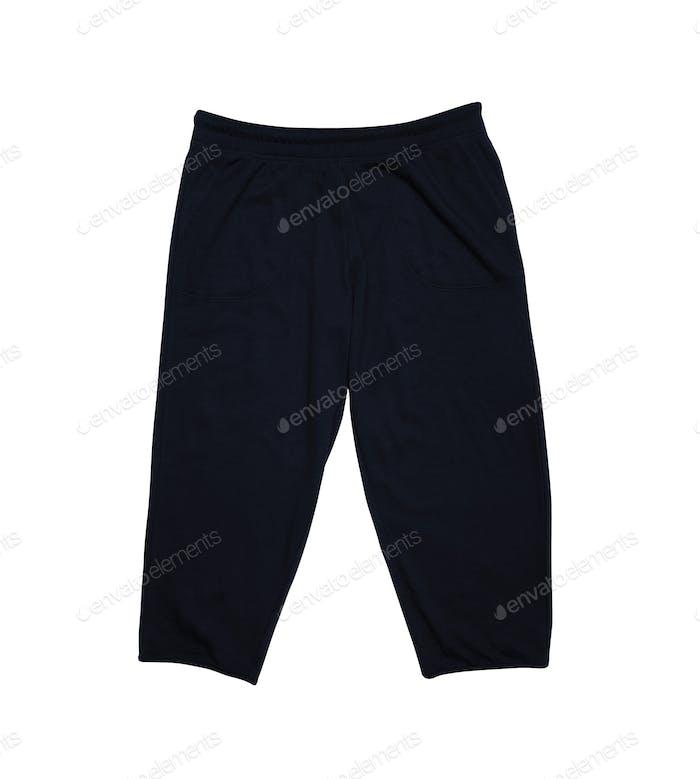 black Sweatpants isolated on white