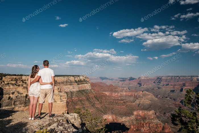 Tourists hiking at Grand Canyon